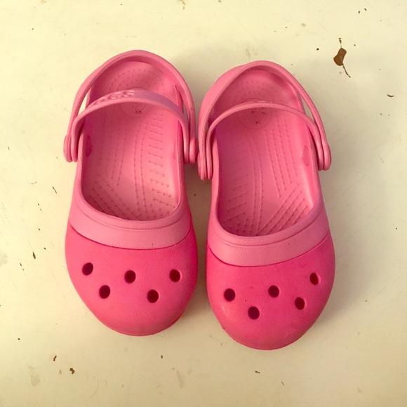 Size 9 Toddler Girls Crocs Shoes Kid